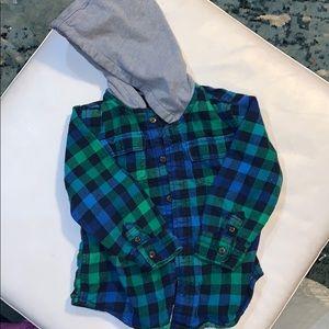 Toddler flannel jacket